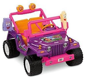 Montable Power Wheels Dora La Exploradora Jeep Wrangler, Pú