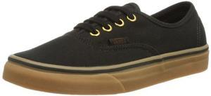 Vans Unisex Goma Negro Auténtico Skate Zapatos 9 Hombres