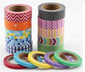 Variedad Washi Tape Set - 15 De Color Arte De Papel De Enma