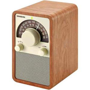 Sangean Wr-15wl Am / Fm Tabla Superior Radio, Nuez