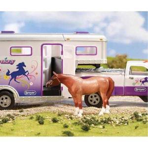 Stablemates Caballo Crazy Truck & Trailer Cuello De Ganso