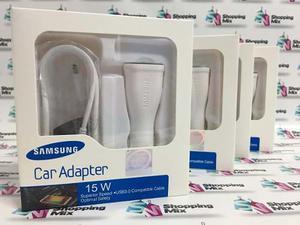 Cargador Samsung Carga Rápida Carro Original S6 S7 A5 A7