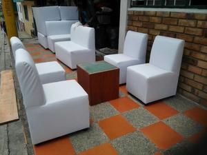 Fabricamos salas de espera puff y sofas para salon posot for Muebles para negocio