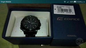 Reloj Casio Edifice, Ef 535bk,aceronegro