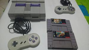 Nintendo Super con 2 Juegaosos Ganga