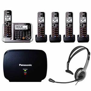 Panasonic Kx-tgs Link2cell Bluetooth Del Teléfono W / 5