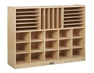 Ecr4kids Birch Mueble De Almacenamiento De Sección
