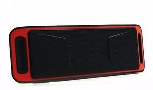 Parlante Bluetooth 6w Xc-208 Rojo Usb/microsd/fm