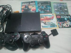 Play 2 Muy Completo con 2 Controles Ps2
