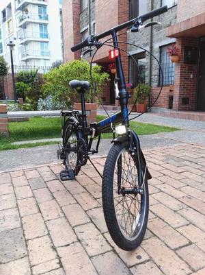 Bicicleta Plegable con Cambios, Guardabarros BARATA