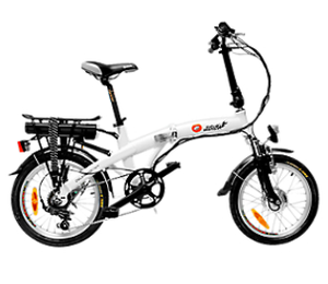 Ciclo Motor Bicicleta Plegable Portable Blanca Plus Rin 18