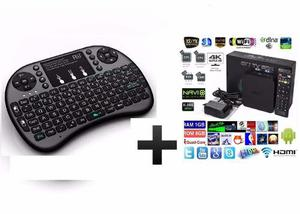 Combo Tv Box + Mini Teclado Android Inalambrico Touchpad