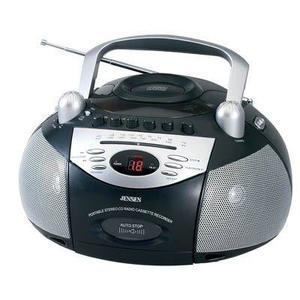 Jensen Port Cd Plyr Cassette Rad !