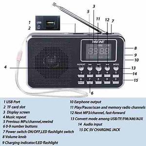 Pocket Radio,mifine Portable Speaker Am/fm Radio !
