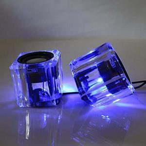 Scs Etc Usb Powered Portable Mini Crystal Speakers !