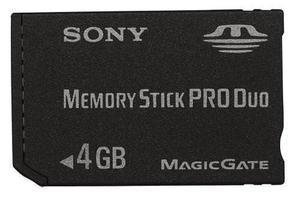 Sony 4 Gb Memory Stick Pro Duo Para Psp: Videojuegos / &g8