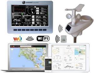 Tiempo Ambiente Ws Wifi Observador Solar Powered Wifi Monit