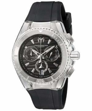 Reloj Technomarine Tm- Silicona Color Negro Unisex