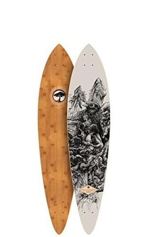Skateboard Árbol Bambú Cubierta De Peces Oferta 754