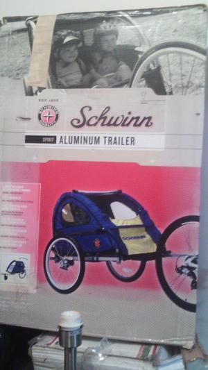 trailer de bicicleta para dos niños