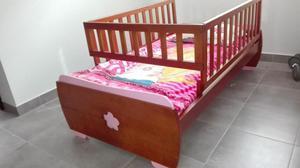 cama cuna niña con mueble organizador