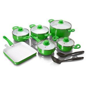 Batería 11 Pzas Cerámica Chef Master+2 Espátulas - Ollas