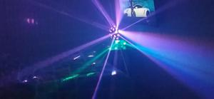Luces led para discotk y maquina de humo
