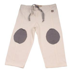 Pantalón Blanco Con Rodilleras-9-12 Meses