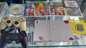 Play station 2 gris con dos controles memoricard 15 juegos