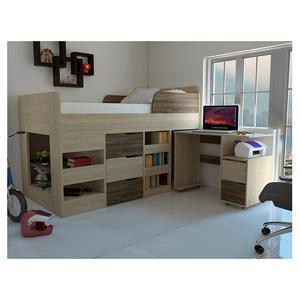 Cama nido con escritorio y cajones muy posot class for Cama nido con cajones y escritorio