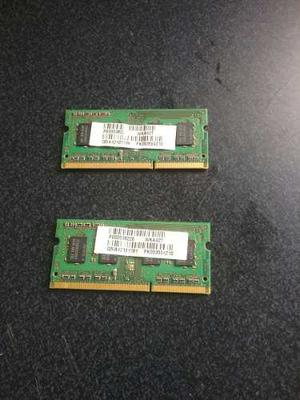 2 Memorias Ram Ddr3 De 2 Gb Samsung