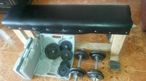 Banco de ejercicio y de pesas plano e posot class for Pesas y mancuernas
