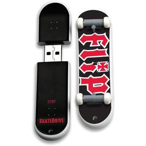 Acción Deporte Unidades 8gb Flip Skate Memoria Usb, Logo