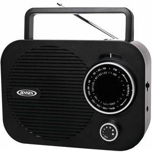 Jensen Señor-550-bk Portable Am / Fm Radio, Negro