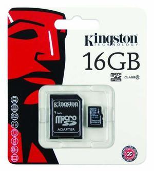 Memoria Micro Sd 16gb Kingston Clase 4 Blister Envio Gratis