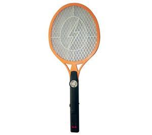 Raqueta Electrica Recargable Con Linterna Mata Insectos