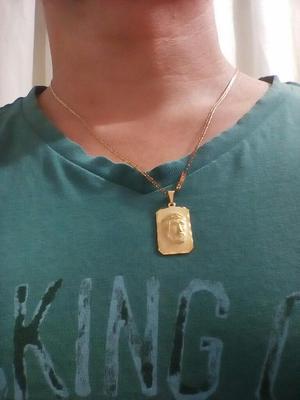 Cadena de Oro Laminado de 18k con Dije