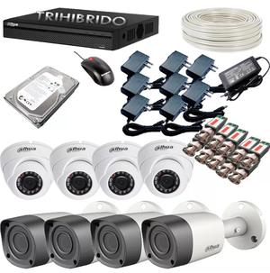 Kit De 8 Camaras De Seguridad Resolucion HD 1 Megapixel Dvr