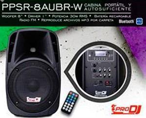 Cabina Recargable Woofer De 8 - Usb/sd Bluetooth