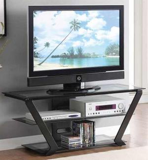 Consola De Tv Negro Moderno Contemporáneo Para