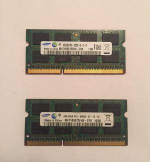 Memoria Ram DDR3 4 Gb 2 Gb Portatil