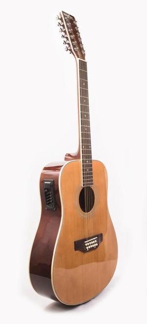 Guitarra 12 Cuerdas Electroacustica Caja Grande Natural