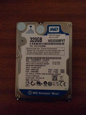 vendo disco duro para portatil western digital 320gb blue