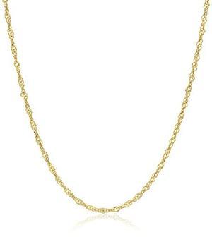 14 K Oro Amarillo De Corte Diamante Collar De La !
