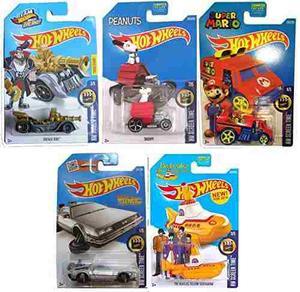 Hot Wheels  Hw Tiempo De La Pantalla 5-car Set De Nuevo