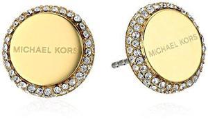 Pendientes De Perlas Con Logo De Oro Michael Kors