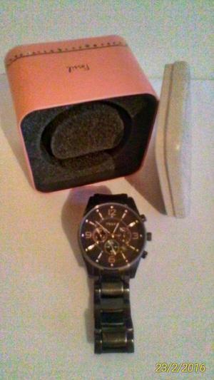 Reloj Fossil en acero pavonado $