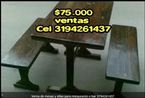 Mesas y sillas para restaurante y bar