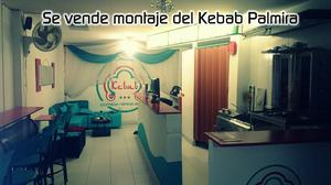 Se vende montaje de Kebab Palmira cocina arabe