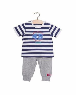 Set 2 Piezas Camiseta Manga Corta Y Pantalón Niño Azul
